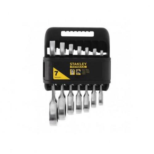 Stanley Kombinēto uzgriežņu atslēgu komplekts ar tarkšķi FMMT82900-0