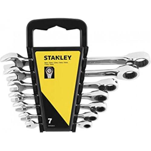 Stanley Kombinēto uzgriežņu atslēgu komplekts ar tarkšķi STMT82846-0